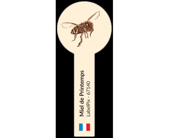 Miel de printemps - étiquette rond avec scellé à personnaliser