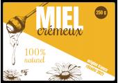 Autocollant miel crémeux naturel 250 g à personnaliser
