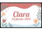 Étiquette fleurie - naissance Clara