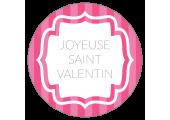 Étiquettes Joyeuse Saint Valentin rose vintage