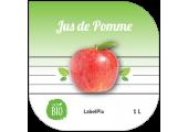 Autocollant jus de pommes 1L à personnaliser en ligne