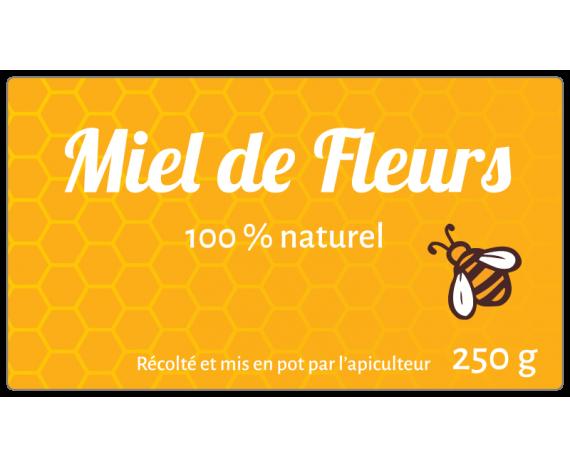 Miel de fleurs naturel 250g