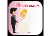 Étiquettes Vive les Mariés