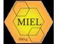 Étiquette hexagonale Miel 500 g à personnaliser en ligne
