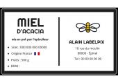Étiquette préremplie à personnaliser en ligne miel d'acacia