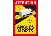Étiquette attention angles morts pour camion