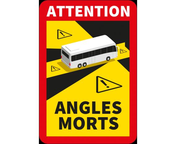 Autocollant attention angles morts pour bus