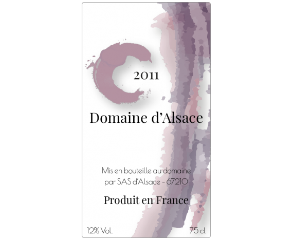 Étiquette de vin personnalisable