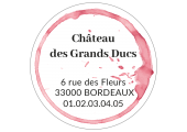 Sticker adresse circulaire à personnaliser en ligne