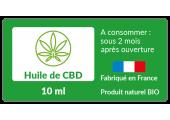 Étiquette à personnaliser Huile de CBD