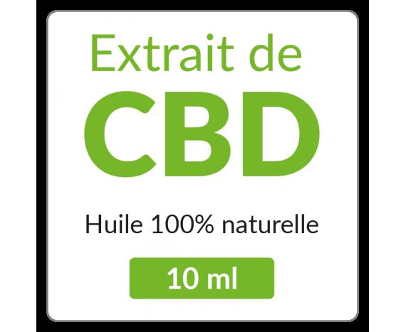 Sticker carré Huile de CBD