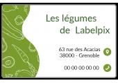 Étiquette adresse verte à personnaliser