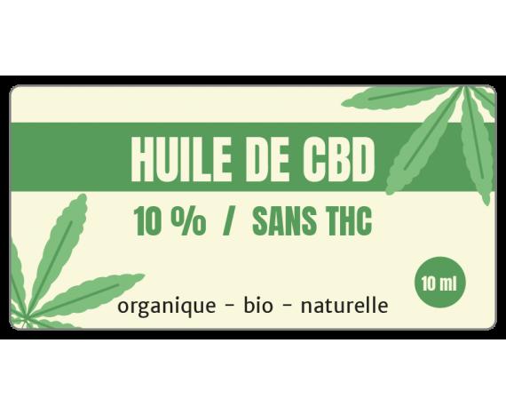 Sticker rectangulaire huile de CBD