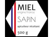 Étiquette hexagonale miel de sapin 500 g à personnaliser