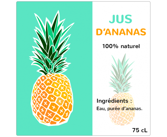 Jus d'Ananas 100% naturel