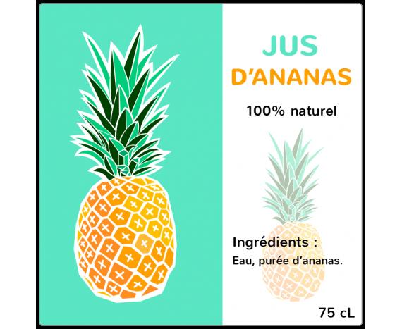 Jus d'Ananas 100% naturel