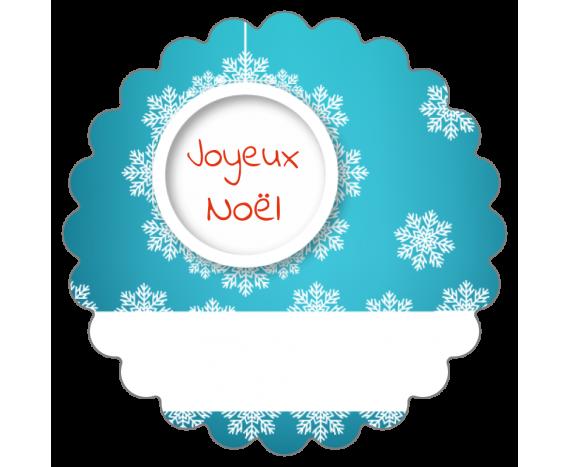 Joyeux Noël et encart pour le nom