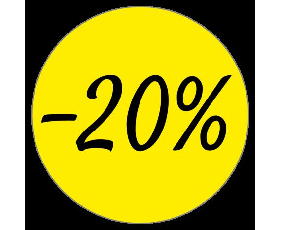 Étiquettes promotions remise -20%