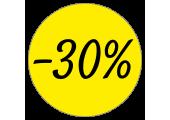 Étiquettes promotions remise -30%