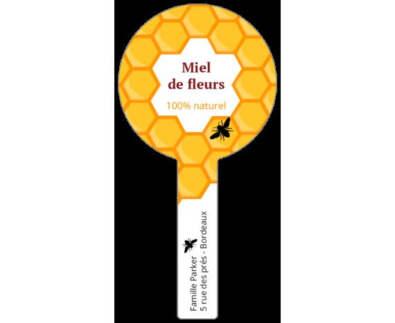 Miel de Fleurs - étiquettes scellées LabelPix