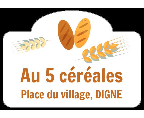 étiquette commerce boulangerie 5 céréales