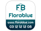 étiquette personnalisée autocollante abstract bleu