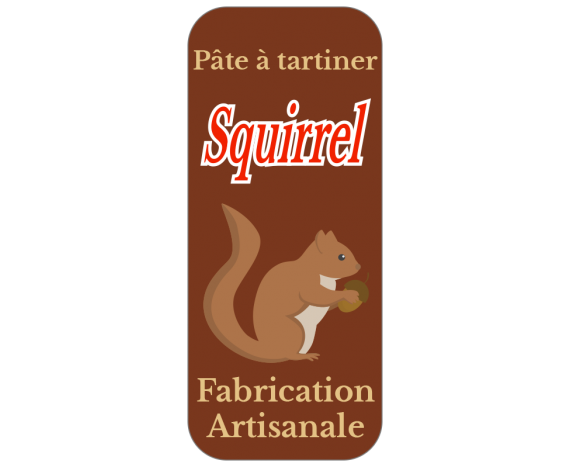 étiquette pâte à tartiner écureuil