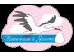autocollant enveloppe naissance cignogne et prénom