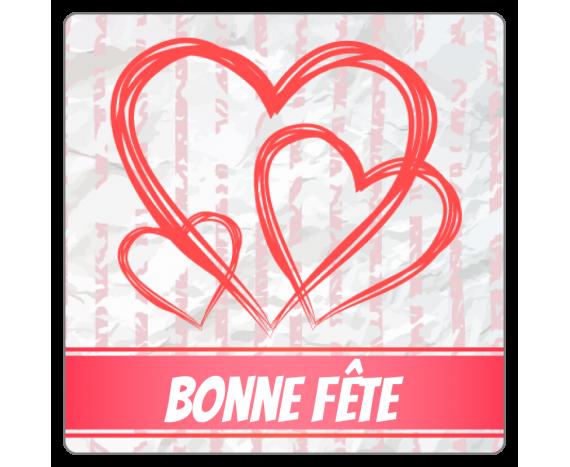 Etiquettes Bonne Fête pour la St Valentin