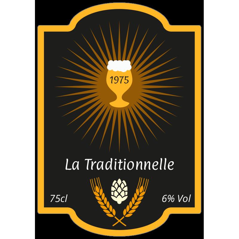 étiquette Bière Personnalisable La Traditionnelle