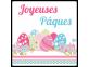 Étiquettes Joyeuses Pâques petits oeufs