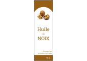 étiquette grande bouteille huile de noix