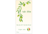 étiquette huile d'olive olivital