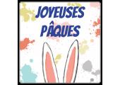 Étiquettes Joyeuses Pâques Oreilles de lapin