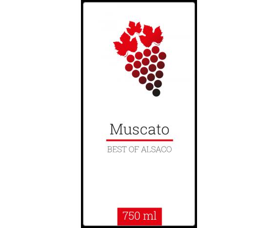 étiquette bouteille vin muscato