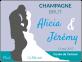 etiquette champagne brut mariage