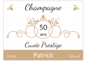 étiquette champagne cuvée prestige