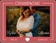 etiquette champagne mariage avec photo