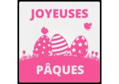 Étiquettes Joyeuses Pâques Oeufs et Oisillons