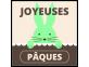 Étiquettes Joyeuses Pâques Lapin Vert