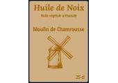 étiquette bouteille huile de noix artisanale