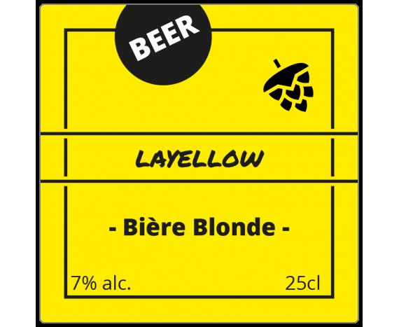 étiquette bière blonde format carré