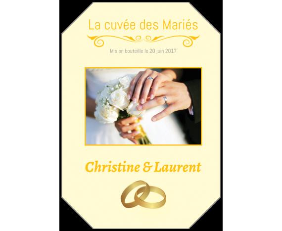 étiquette Champagne Personnalisée Mariage Autocollants