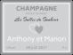étiquette autocollante mariage champagne