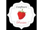 étiquettes en rouleau confiture fraise