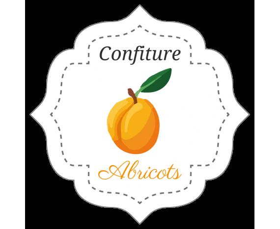 étiquettes en rouleau confiture pour abricot