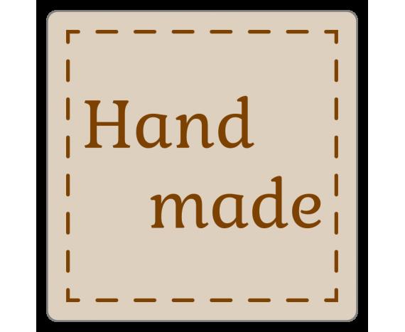 """étiquettes """"hand made"""" en rouleau"""