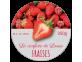 Étiquettes de confiture à la fraise