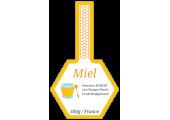 étiquette miel bande scellée