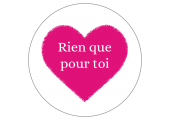 """Étiquettes Saint Valentin """"Rien que pour Toi"""""""